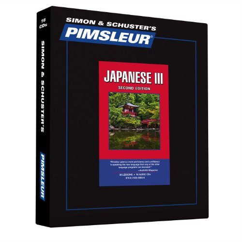 9780743528856: Pimsleur Japanese Level 3 CD: Learn to Speak and Understand Japanese with Pimsleur Language Programs (Comprehensive)