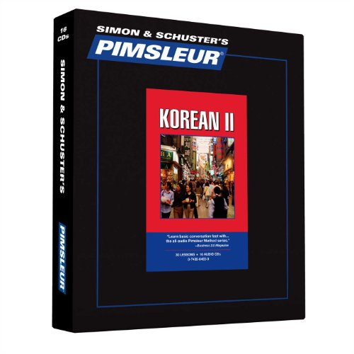 9780743564038: Pimsleur Korean Level 2 CD: Learn to Speak and Understand Korean with Pimsleur Language Programs (Comprehensive)