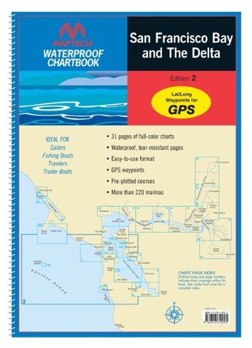 9780743608756: Maptech Waterproof Chartbooks: San Francisco Bay and The Delta