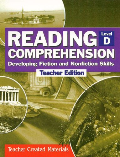 9780743901543: Reading Comprehension Developing Fiction and Nonfiction Skills Level D (Teachers Edition)