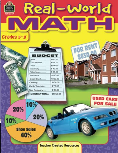 9780743932677: Real-World Math, Grades 5-8