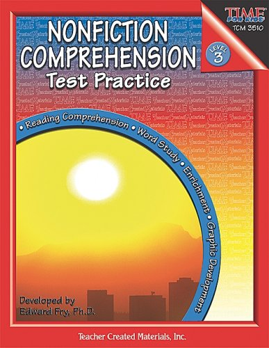 9780743935104: Nonfiction Comprehension Test Practice, Level 3