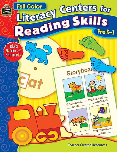 9780743937023: Full-Color Literacy Centers for Reading Skills