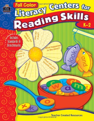 9780743937030: Full-Color Literacy Centers for Reading Skills