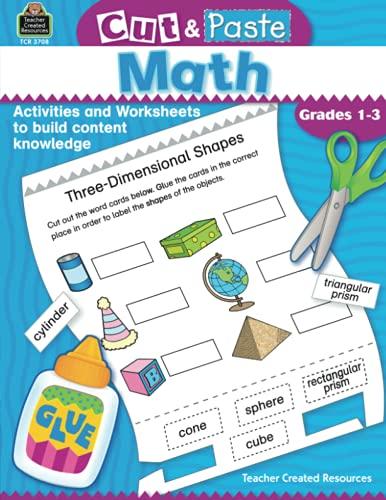 9780743937085: Cut & Paste Math: Grades 1-3