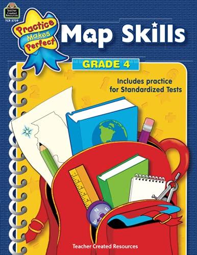 9780743937290: Map Skills Grade 4 (Practice Makes Perfect)