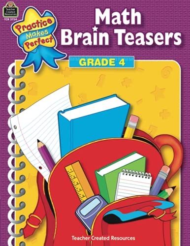 9780743937542: Math Brain Teasers Grade 4 (Practice Makes Perfect)