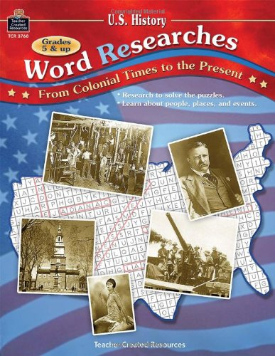 9780743937689: U.S. History Word (Re)Searches: From Colonial Times to the Present