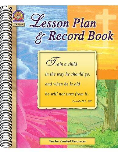 9780743970280: Christian Lesson Plan & Record Book