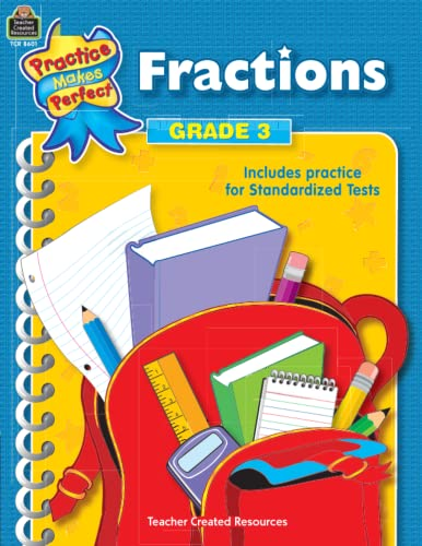 9780743986014: Fractions Grade 3 (practice makes perfect)