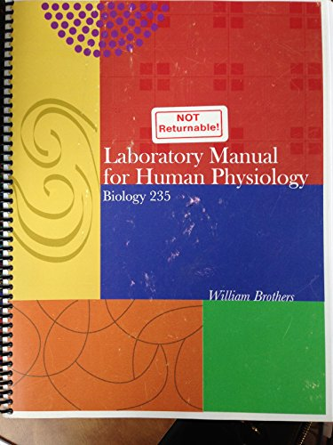 9780744243925: Laboratory Manual for Human Physiology Biology 235