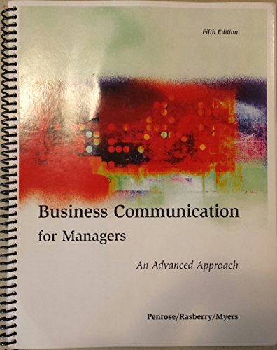 9780744272390: Business Communication for Managers