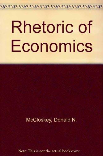 9780745003160: Rhetoric of Economics