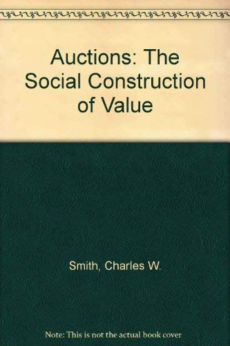 9780745006505: Auctions: The Social Construction of Value