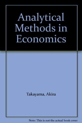 9780745010366: Analytical Methods in Economics