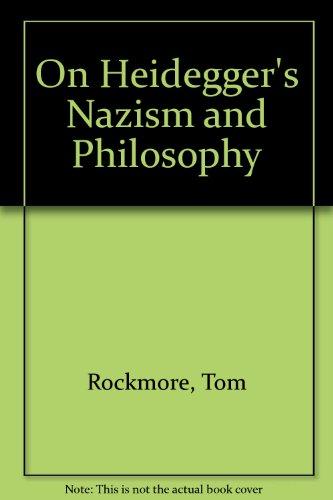 9780745012315: On Heidegger's Nazism and Philosophy