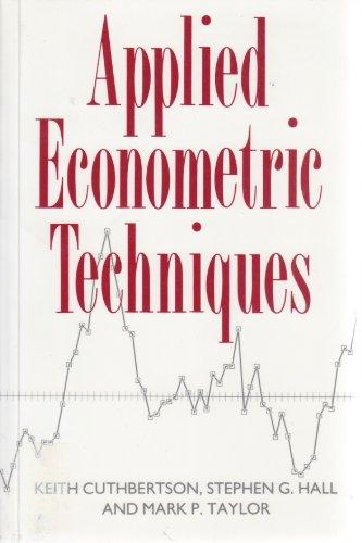 9780745012445: Applied Econometric Techniques
