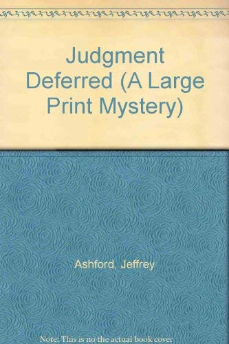 9780745129075: Judgment Deferred (Large Print Mystery)