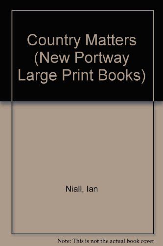 9780745170312: Country Matters (New Portway Large Print Books)