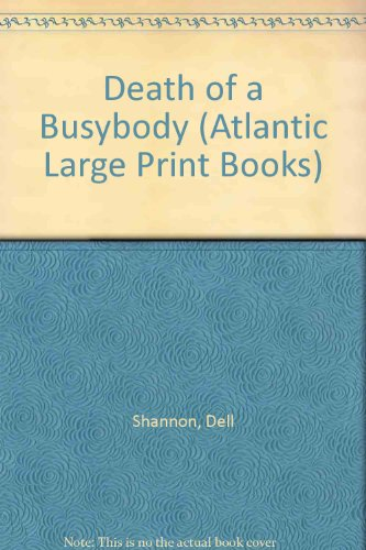 9780745180243: Death of a Busybody (Atlantic Large Print Books)