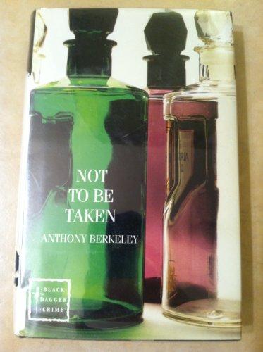 9780745186580: Not to Be Taken (Black Dagger Crime Series)