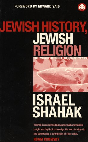 9780745308197: Jewish History, Jewish Religion, the Weight of 3000 Years (Pluto Middle Eastern Studies)