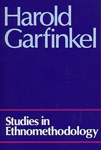 9780745600055: Studies in Ethnomethodology