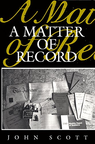 9780745600703: A Matter of Record: Documentary Sources in Social Research