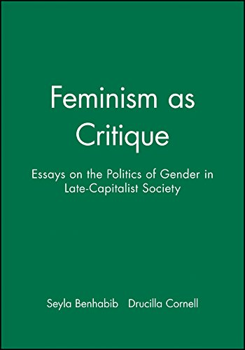 9780745603667: Feminism As Critique: Essays on the Politics of Gender in Late-capitalist Society