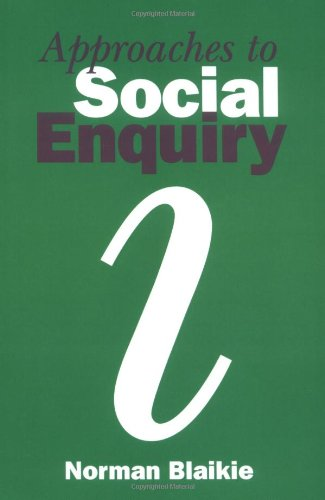 9780745611730: Approaches to Social Enquiry