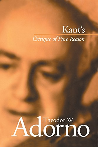 Kant s Critique of Pure Reason (Hardback): Theodor W. Adorno