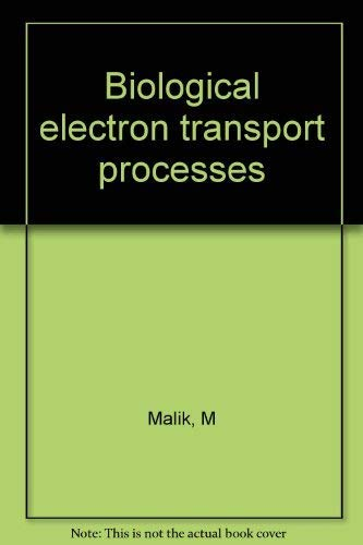 9780745800172: Biological Electron Transport Processes