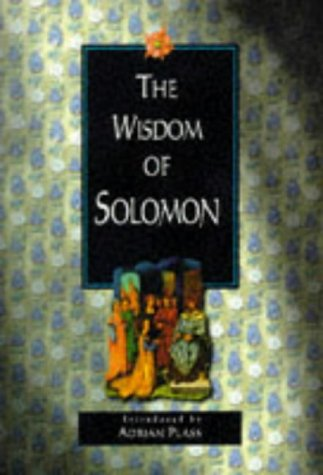 The Wisdom of Solomon: Plass, Adrian (Introduced by)