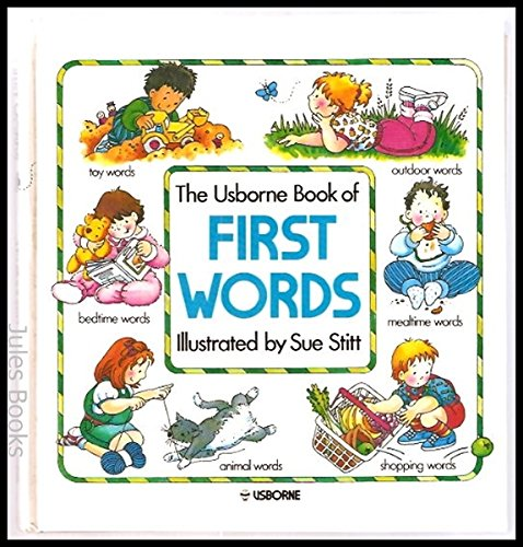 9780746004371: The Usborne Book of First Words (Usborne Babies' Library)