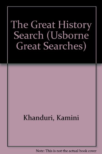 9780746017944: The Great History Search (Usborne Great Searches)