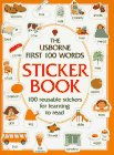 9780746021163: First 100 Words Sticker Book (Usborne First Hundred Words Sticker Books)