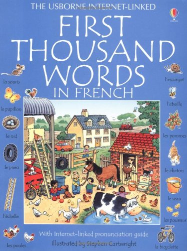 9780746023044: First 1000 words french (Usborne First Thousand Words)