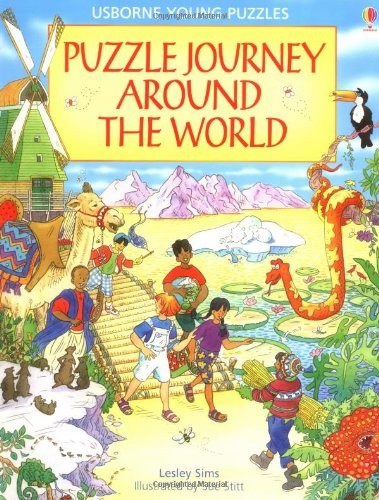 9780746026823: Puzzle Journey Around the World (Usborne Young Puzzles)