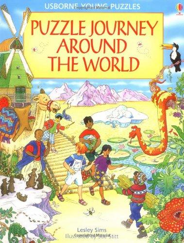 9780746026823: Puzzle Journey Around the World (Usborne Young Puzzle Adventures)
