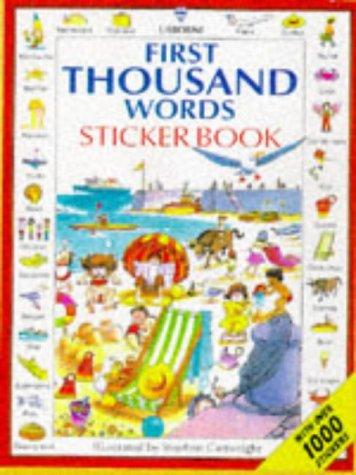 9780746030066: First Thousand Words Sticker Book