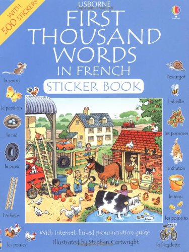 9780746030073: First Thousand Words in French: Sticker Book (First Thousand Words Sticker Book)
