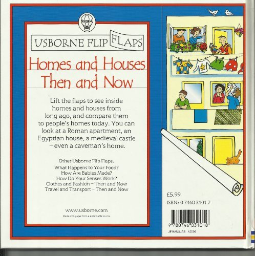 9780746031018: Homes and Houses (Usborne Flip Flaps S.: Then & Now)