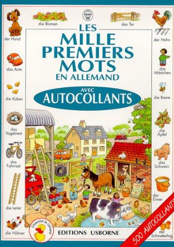 9780746035627: Les mille premiers mots en allemand : avec autocollants