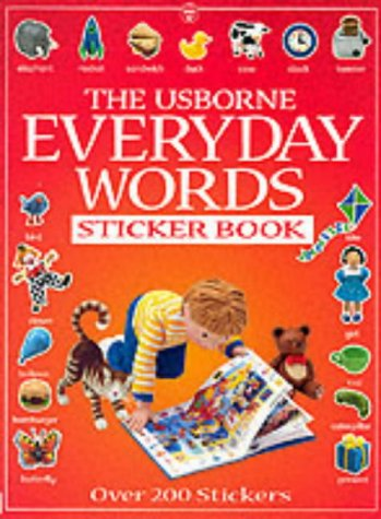 9780746042366: Everyday Words Sticker Book (Usborne Everyday Words Sticker Books)