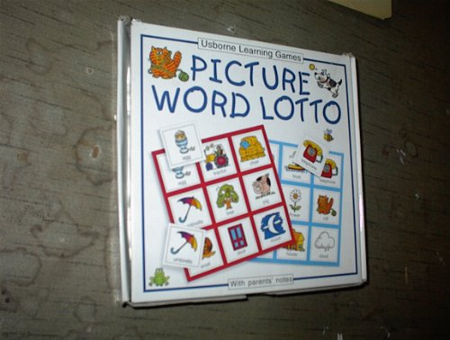 9780746043028: Learning Games Picture Word Lotto (Usborne Learning Games)