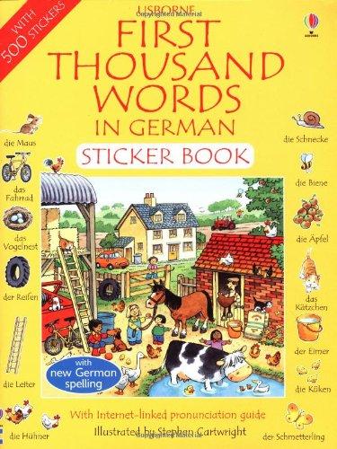 9780746051023: First 1000 Words in German Sticker Book