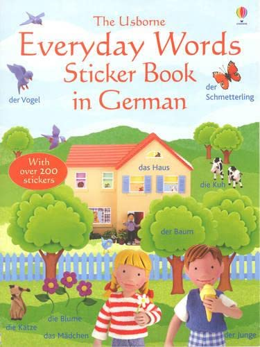 9780746057674: Everyday Words Sticker Book in German (Usborne Everyday Words Sticker Books)