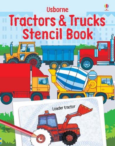 9780746070390: Tractor & Trucks (Stencil Book)