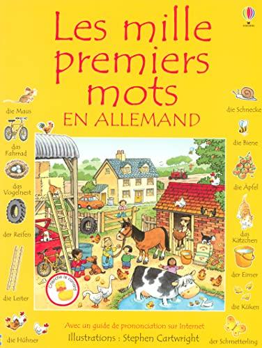 9780746078204: Les mille premiers mots en allemand : Avec un guide de pronociation sur Internet