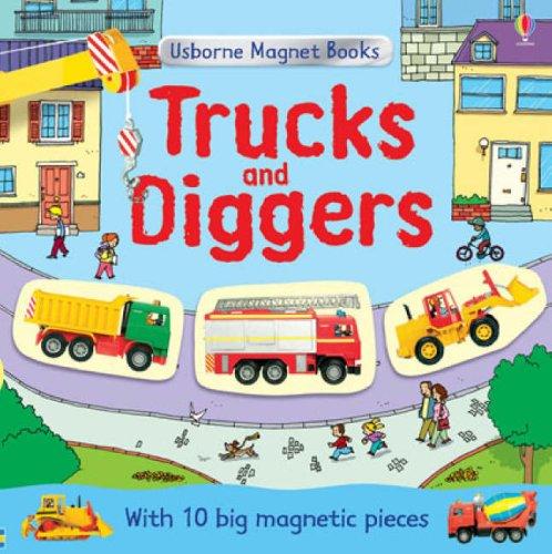 9780746084380: Trucks and Diggers (Usborne Magnet Books)